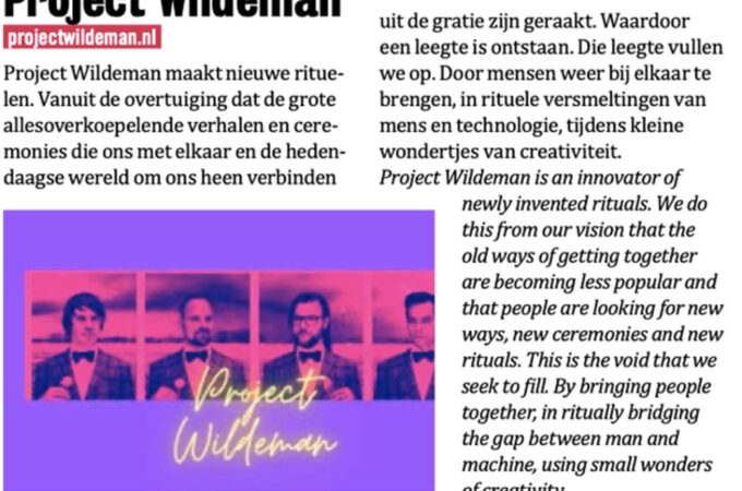 Project Wildeman in Strtfstvl gids
